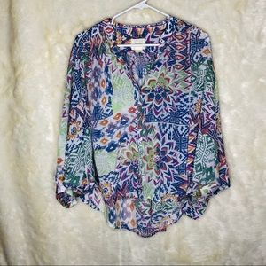 Maeve | Anthropologie | Floral High Low Blouse
